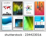 set of flyer design  web... | Shutterstock . vector #234423016