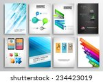 set of flyer design  web... | Shutterstock . vector #234423019