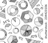 seamless pattern of infographic ... | Shutterstock .eps vector #234423106