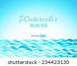 vector watercolor waves... | Shutterstock .eps vector #234423130