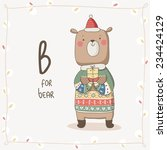 cute vector alphabet christmas. ... | Shutterstock .eps vector #234424129