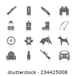 hunting icons   Shutterstock .eps vector #234425008