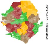 A large and detailed map of Sierra Leone with all areas, main cities and chiefdoms.
