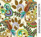 seamless pattern with paisley ...   Shutterstock .eps vector #234425974