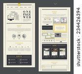 retro one page website template ...