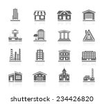 building icons | Shutterstock .eps vector #234426820
