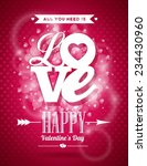 vector valentines day... | Shutterstock .eps vector #234430960
