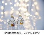 christmas lights and ornaments. | Shutterstock . vector #234431590