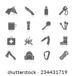 bushcraft icons | Shutterstock .eps vector #234431719