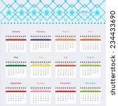 calendar 2016 week starting... | Shutterstock .eps vector #234433690