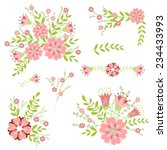 floral design element. vector... | Shutterstock .eps vector #234433993