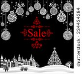 christmas sale label. vector... | Shutterstock .eps vector #234434284