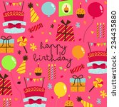 birthday pattern background | Shutterstock .eps vector #234435880
