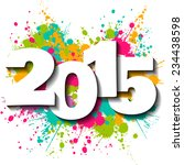 happy new year 2015 vector... | Shutterstock .eps vector #234438598