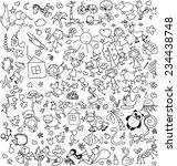 vector children's drawings  | Shutterstock .eps vector #234438748