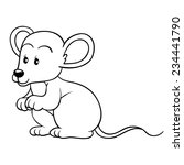 coloring book  mouse  | Shutterstock .eps vector #234441790