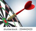 darts in bull's eye | Shutterstock . vector #234442423
