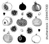 vector set of pomegranates.... | Shutterstock .eps vector #234447430