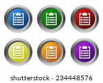 set of rounded colorful buttons ... | Shutterstock . vector #234448576