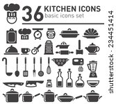 kitchen icons set. | Shutterstock .eps vector #234451414