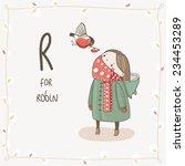 cute vector alphabet christmas. ... | Shutterstock .eps vector #234453289