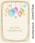 vector christmas balls  stars ... | Shutterstock .eps vector #234457546