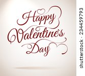 valentines day vintage... | Shutterstock .eps vector #234459793