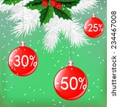 christmas sale with traditional ... | Shutterstock .eps vector #234467008