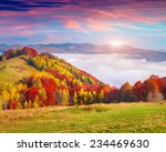 colorful autumn morning in the... | Shutterstock . vector #234469630