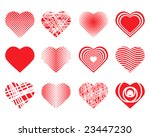 collection of hearts | Shutterstock . vector #23447230