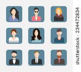 different faces flat icons.... | Shutterstock .eps vector #234472834