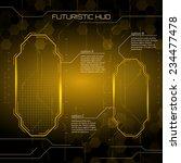 sci fi futuristic user... | Shutterstock .eps vector #234477478
