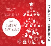 bright christmas greeting card  ... | Shutterstock .eps vector #234478423
