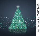 stylized green christmas tree... | Shutterstock .eps vector #234479410