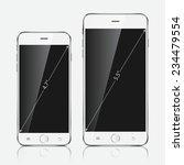 realistic white mobiles phones...   Shutterstock .eps vector #234479554