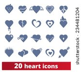 hearts icons  vector set of... | Shutterstock .eps vector #234481204