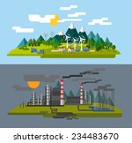 vector color farm and factory... | Shutterstock .eps vector #234483670