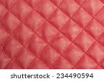 Macro Detail Of Red Leather...