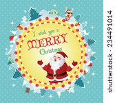 merry christmas card vector | Shutterstock .eps vector #234491014