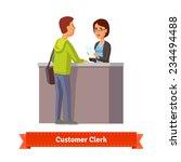 assistant clerk working with...   Shutterstock .eps vector #234494488