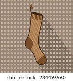 brown sock hanging | Shutterstock .eps vector #234496960