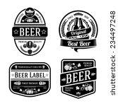 set of black monochrome beer... | Shutterstock .eps vector #234497248