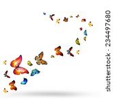 Stock photo flock of butterflies 234497680
