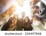 Multiethnic Group Of Friends I...
