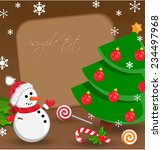 christmas background with... | Shutterstock .eps vector #234497968