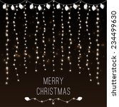 christmas vector card with... | Shutterstock .eps vector #234499630