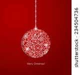 christmas background with... | Shutterstock .eps vector #234504736
