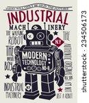 vintage robot design | Shutterstock .eps vector #234506173