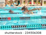 boy swimming butterfly in a... | Shutterstock . vector #234506308