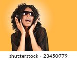 african american woman singing... | Shutterstock . vector #23450779